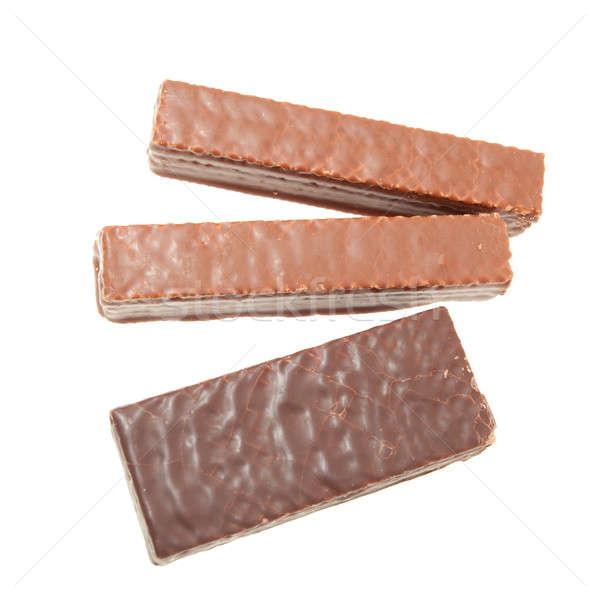 Chocolade bars geïsoleerd witte achtergrond zoete Stockfoto © alexandkz