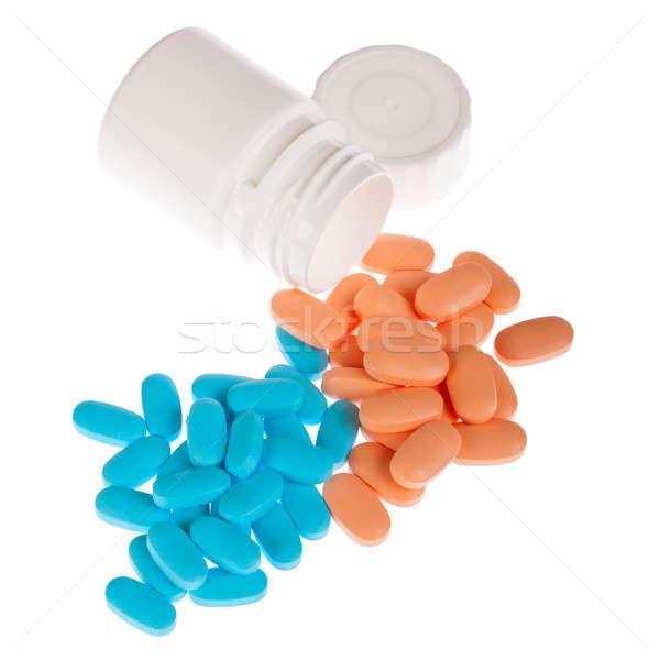 Isolé blanche pilule pilules lumière fond Photo stock © alexandkz