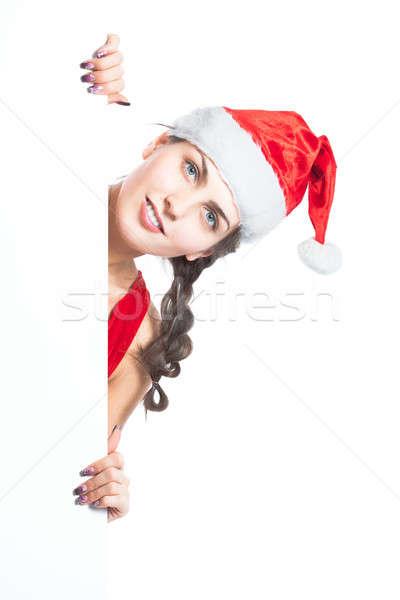 Jeunes belle Noël fille vide Photo stock © alexandkz