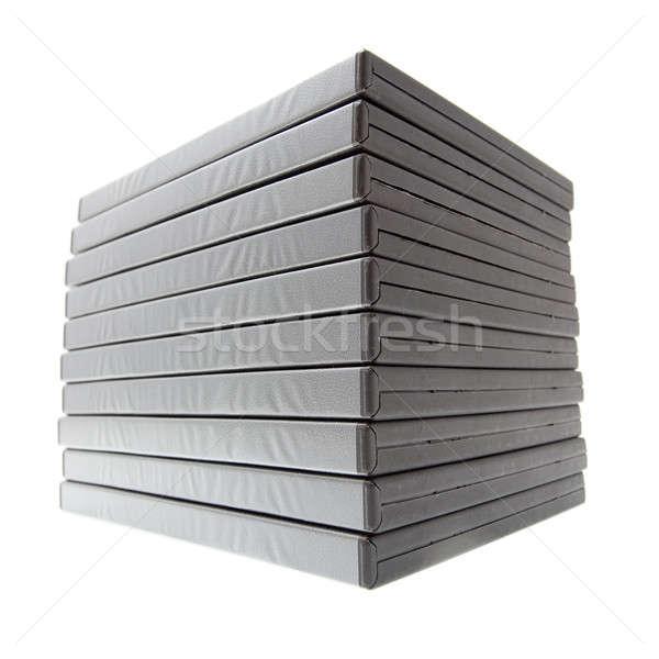 Batch Filme Verpackung Boxen isoliert weiß Stock foto © alexandkz
