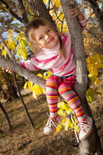 Pequeno criança árvore família menina primavera Foto stock © alexandkz