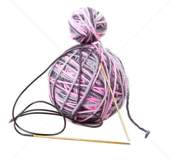 lilac clew and needle isolated Stock photo © alexandkz
