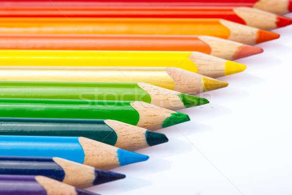 Coloré crayons macro coup bureau Photo stock © alexandkz