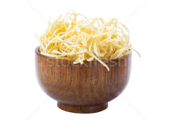 Kom pasta geïsoleerd witte ontwerp achtergrond Stockfoto © alexandkz