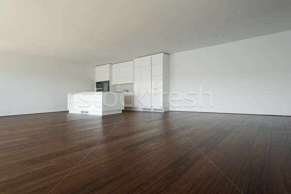 beautiful empty apartment, white kitchen Stock photo © alexandre_zveiger