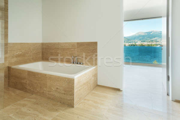 Bathroom, marble floor Stock photo © alexandre_zveiger