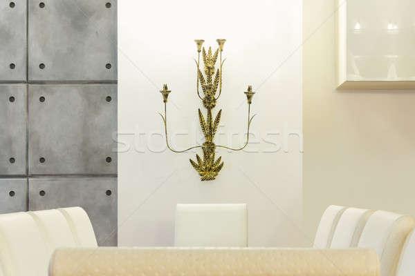ダイニングテーブル 詳細 アーキテクチャ インテリア 家 白 ストックフォト © alexandre_zveiger