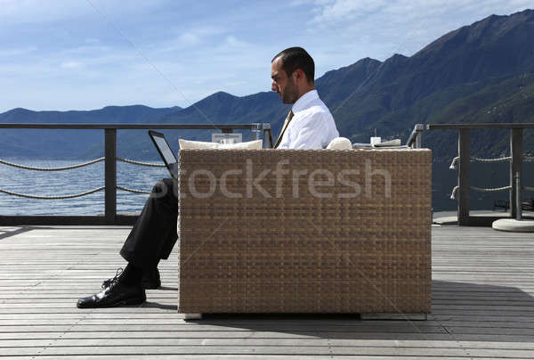 businessman relaxing Stock photo © alexandre_zveiger
