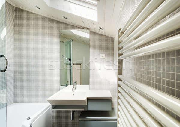 Interni rustico home moderno bagno vecchio Foto d'archivio © alexandre_zveiger