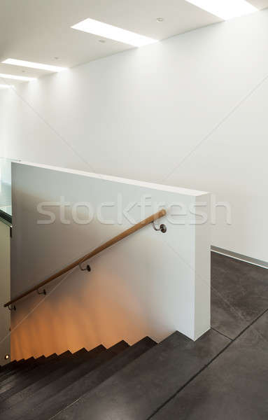 Interior modern house, staircase Stock photo © alexandre_zveiger
