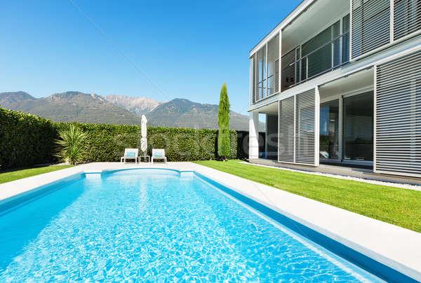 Modern villa with pool Stock photo © alexandre_zveiger
