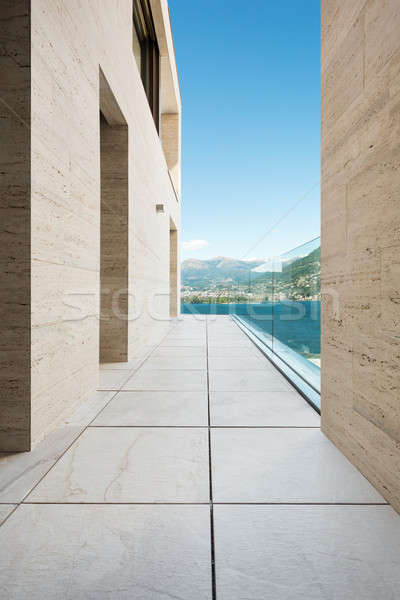 Stok fotoğraf: Güzel · balkon · modern · bina · teras · açık · Bina