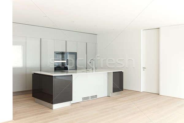 Сток-фото: красивой · пусто · квартиру · современных · кухне