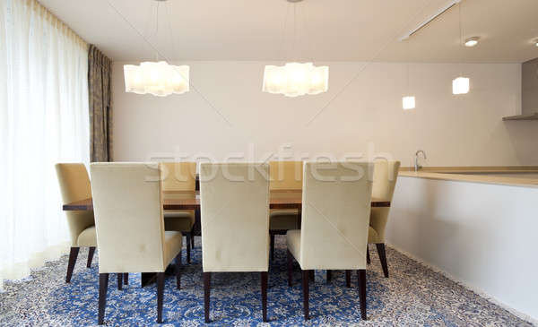 Apartamento lago moderno casa sala de estar Foto stock © alexandre_zveiger