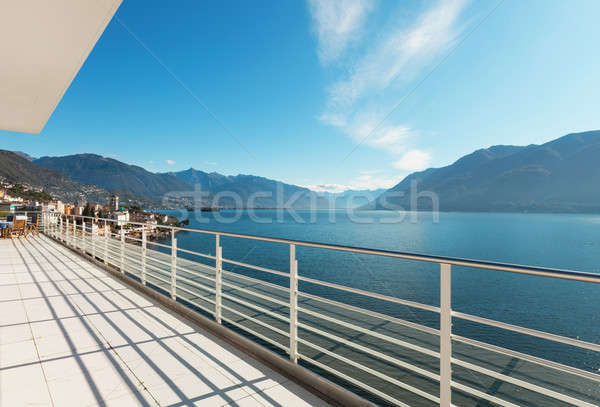 beautiful terrace of a penthouse Stock photo © alexandre_zveiger
