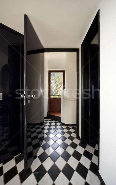 Elegant entrance with '20s chessboard floor Stock photo © alexandre_zveiger