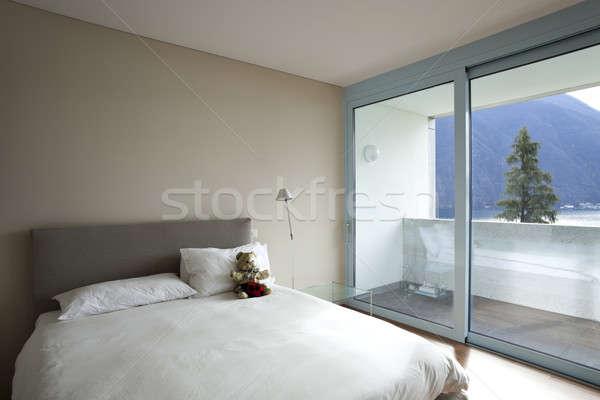 Interior moderno apartamento contemporâneo casa quarto Foto stock © alexandre_zveiger
