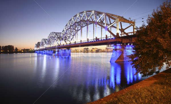 Beautiful bridge in Riga Litvia Stock photo © alexandre_zveiger