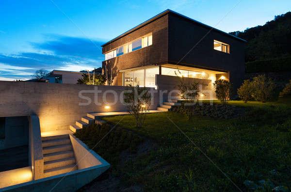 Architektur modernen Design Haus Freien schönen Stock foto © alexandre_zveiger