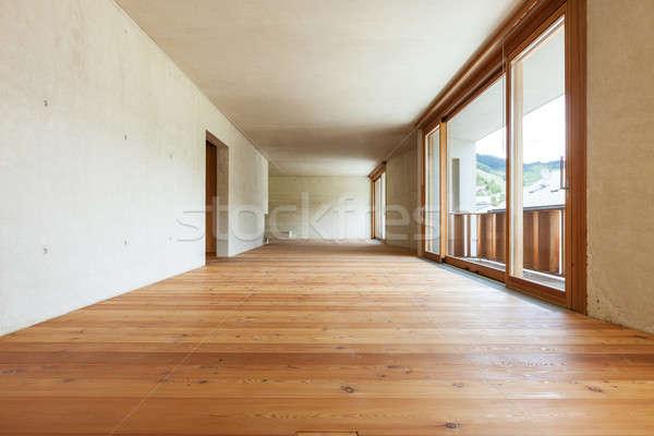 Nieuwe appartement interieur beton muren kamer Stockfoto © alexandre_zveiger