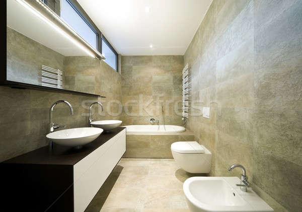 Terv ház bent belső modern fürdőszoba Stock fotó © alexandre_zveiger