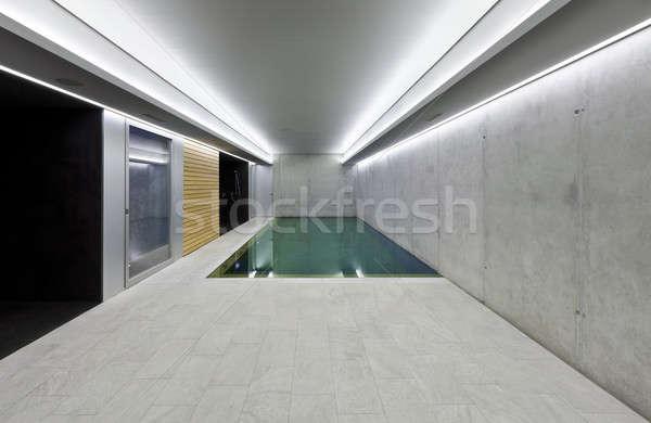 Moderno casa piscina interior concreto Foto stock © alexandre_zveiger