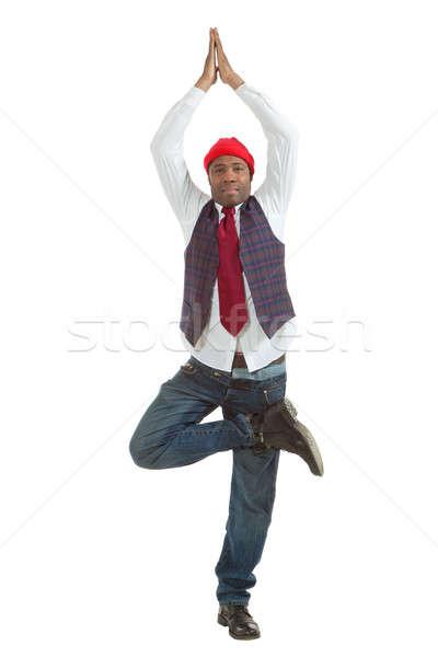 Portrait african man on white background Stock photo © alexandre_zveiger