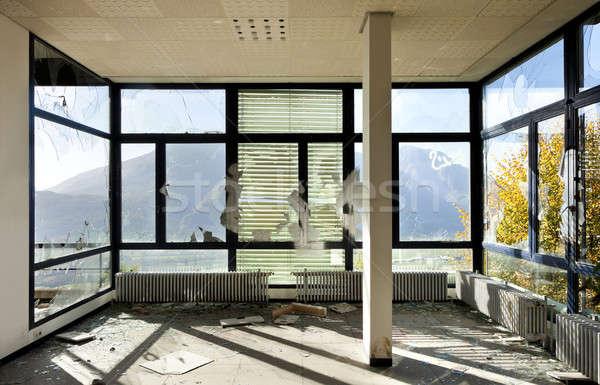 Elhagyatott ház építészet épület üres szoba ablak Stock fotó © alexandre_zveiger