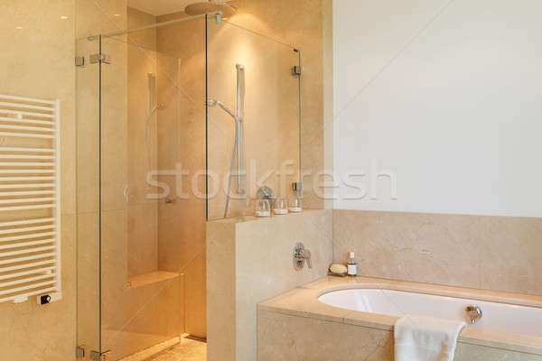 Interior, comfortable marble bathroom  Stock photo © alexandre_zveiger