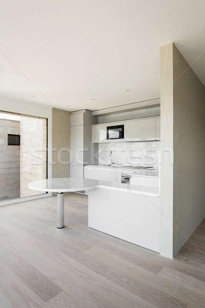 Breed huiselijk keuken mooie moderne huis Stockfoto © alexandre_zveiger