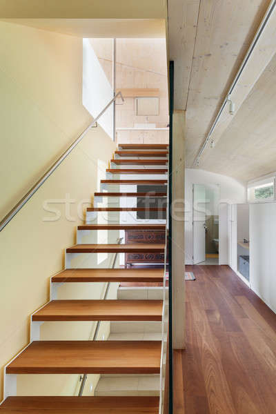 modern architecture, interior, staircase Stock photo © alexandre_zveiger