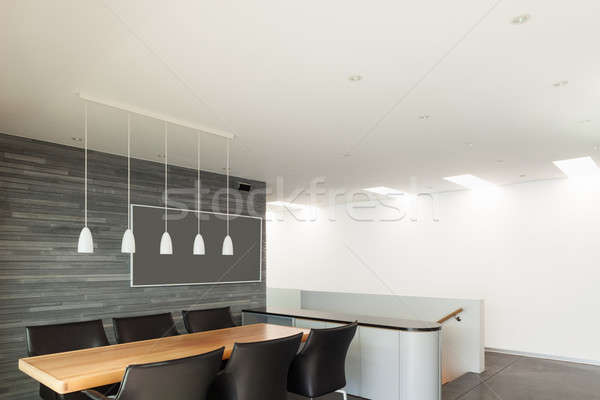 Interieur mooie moderne appartement breed eetkamer Stockfoto © alexandre_zveiger