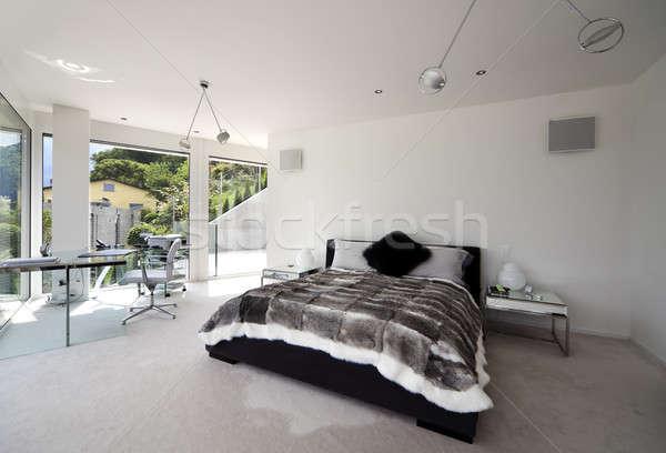 modern bedroom Stock photo © alexandre_zveiger