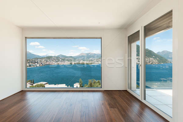 Mooie moderne huis lege kamer venster muur Stockfoto © alexandre_zveiger