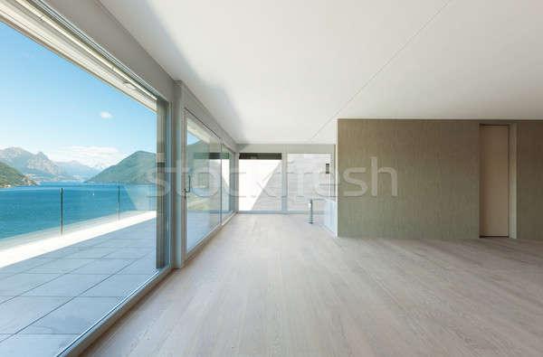 красивой пентхауз интерьер современных пусто гостиной Сток-фото © alexandre_zveiger