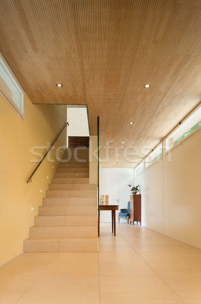 Interni casa passaggio view montagna architettura moderna Foto d'archivio © alexandre_zveiger