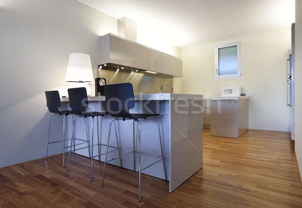Interieur moderne appartement tijdgenoot huis keuken Stockfoto © alexandre_zveiger