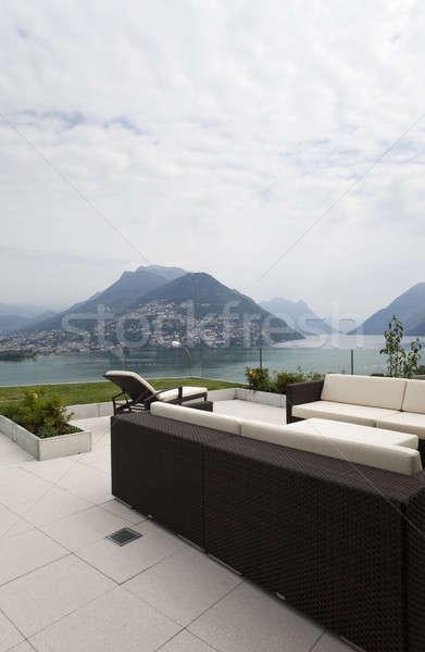 veranda of modern house Stock photo © alexandre_zveiger