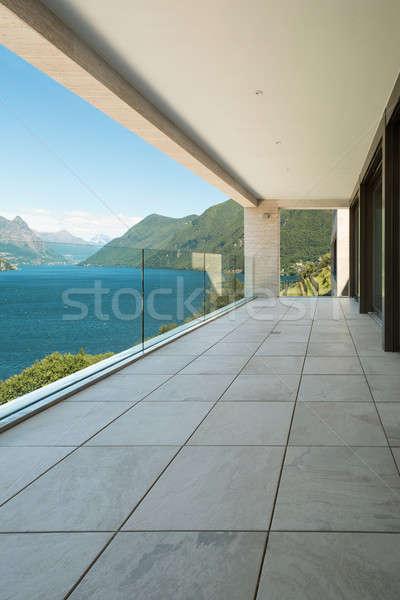 Edifício moderno varanda interior apartamento ver projeto Foto stock © alexandre_zveiger