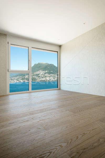 Lakás üres szoba gyönyörű modern ház ablak Stock fotó © alexandre_zveiger