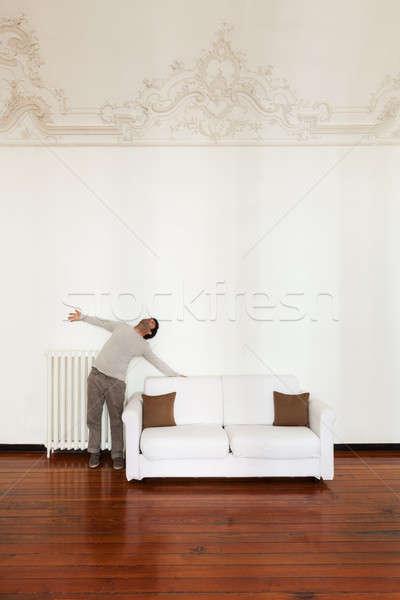 インテリア アーキテクチャ アパート ホーム 快適 白 ストックフォト © alexandre_zveiger