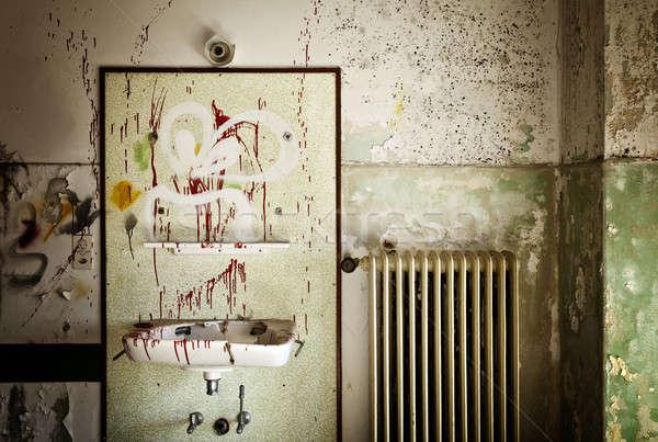 捨てられた 家 アーキテクチャ 古い シンク オレンジ ストックフォト © alexandre_zveiger