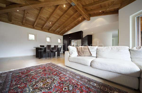 Nuevo hogar interiores Villa moderna apartamento Foto stock © alexandre_zveiger