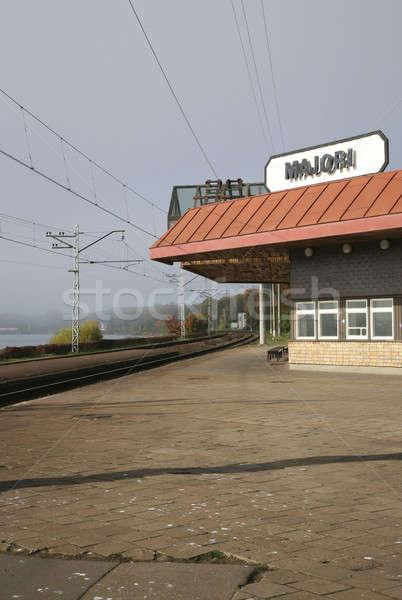 Riga's deserted train's station Stock photo © alexandre_zveiger