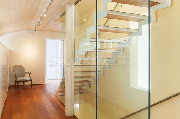 Arquitetura moderna interior escada montanha casa luz Foto stock © alexandre_zveiger