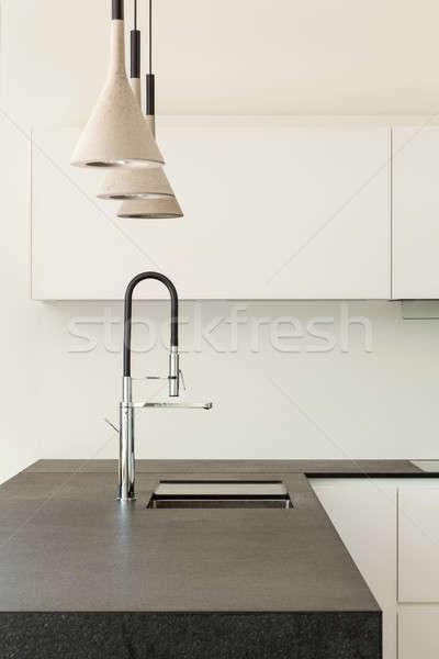 インテリア 現代 家 キッチン アーキテクチャ デザイン ストックフォト © alexandre_zveiger