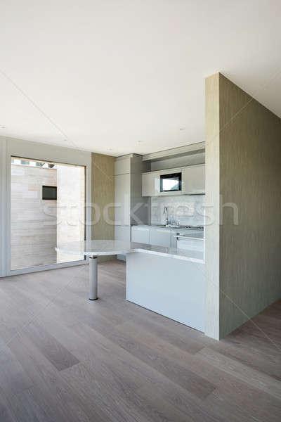 ストックフォト: 現代 · キッチン · 美しい · 家 · 国内の · 壁