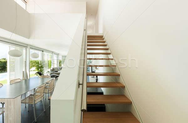 インテリア 現代 家 ヴィラ 階段 表示 ストックフォト © alexandre_zveiger