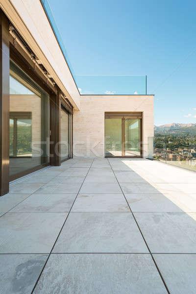 Teras modern bina güzel açık Bina manzara Stok fotoğraf © alexandre_zveiger