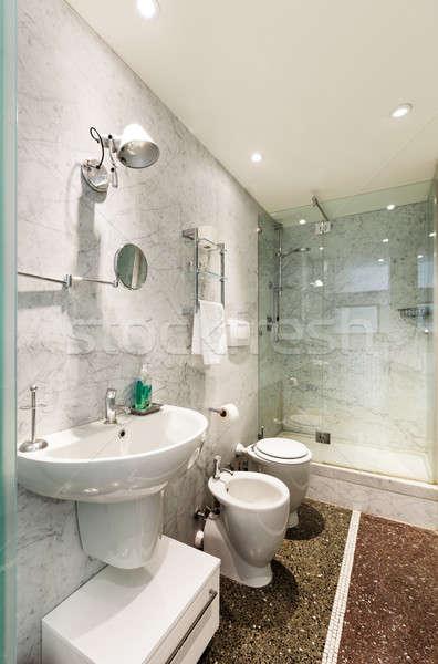 Belső építészet lakás gyönyörű fürdőszoba szoba Stock fotó © alexandre_zveiger